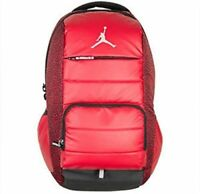 NEW NIKE AIR JORDAN Red/Blk All World Backpack School Laptop Elephant Print NWT
