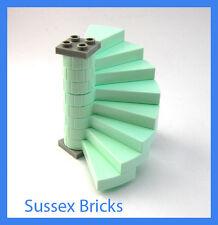 Lego Castle - Light Aqua Complete Spiral Staircase Disney Frozen - New Pieces