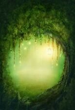 MAGICAL GREEN FOREST FAIRY BACKDROP BACKGROUND VINYL PHOTO PROP 5X7FT 150X220CM