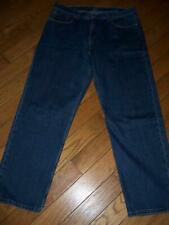 "LEVI'S 550 RELAXED FIT DENIM JEANS 38"" W 32"" L DARK WASHED INDIGO BLUE"