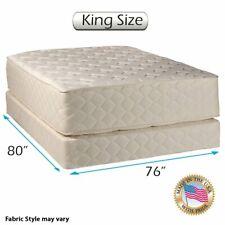 "Dream Sleep Highlight Luxury Firm King Size Mattress & Low 5"" Box Spring Set"