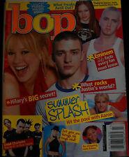 bop Magazine July 2003 Justin Timberlake Eminem Avril Lavigne Hilary Duff