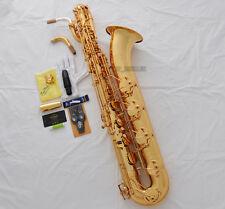 Professional New TaiShan Gold Baritone Saxophone Eb Sax Low A 2 Necks With Case