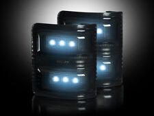 2008-2016 Ford Super Duty Truck Smoked Side Mirror Lenses - White LED Lights