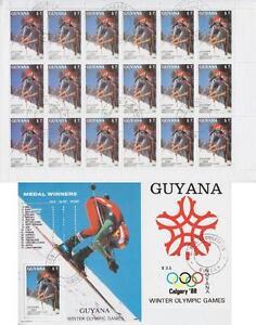 Sport Olympiad Guyana Sheetlet And 2 Blocks, Gest Olympic Games