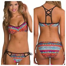 New Tribal Print Multi Coloured  Bikini Set Size Available 6-8-10-12-14-16-18