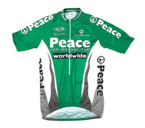 Cannondale Peace for Ireland & Worldwide 1/2 Zip Cycling Jersey Green White XL