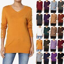 TheMogan Women   PLUS Boyfriend Long Sleeve V-Neck Knit Sweater Pullover Top ebc5be1b0