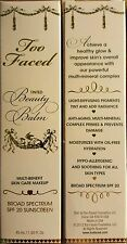 Too Faced Tinted Beauty Balm SPF 20 BB Cream Vanilla Glow 1.5 oz Full Size Boxed