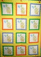 """New Handmade Baby Quilt / Wall Hanging """"Ducks with Balloons"""" 50"""" H x 38"""" W"""