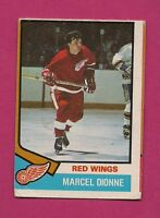 1974-75 OPC # 72 RED WINGS MARCEL DIONNE GOOD CARD (INV#2413)