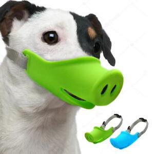 Dog Anti Bite Sleeve Muzzle Pig Mouth Style Dog Cover Rubber Adjustable Muzzle