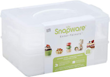 New listing Snapware Snap 'N Stack 2-Layer Cookie, Cake, Cupcake And Brownie Storage Carrier