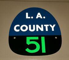 """LA COUNTY 51 """"EMERGENCY 51"""" FIRE HELMET SHIELD Paramedic Green"""
