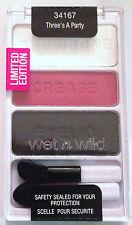 Wet n Wild Eye Shadow Palette Trio # 34167 Three's A Party Limited Edition VHTF