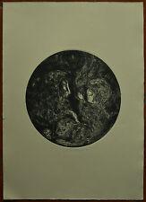 BERTO GIANPAOLO acquaforte FIGURE in tondo 70x50 firmata numerata anno 1974