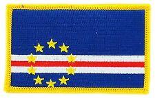 Toppe Toppa PATCH CAPO VERDE 7x4,5cm  Bandiera banderina ricamata termoadesivo