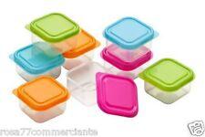 4 Mini Contenitori Coperchi di Plastica cucina spezzie per alimenti campeggio
