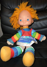 "Rainbow Brite Doll, 20"", Vintage, Hallmark, with Dress"