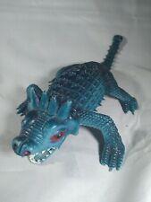 Vintage Made In Hong Kong blue Dinosaur Toy Monster
