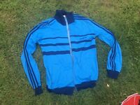 Vintage Adidas tracksuit top 1970s/  1980s