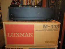 Luxman M-113 Stereo Power Amplifier  Vintage Amp, Bundle Box !!!