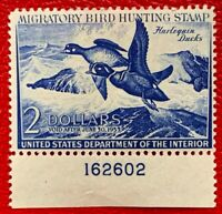 1952 US Federal Duck Stamps SC#RW19 Well Centered with Plate#