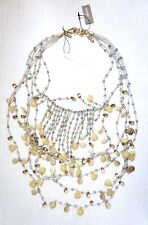 NWT $129 Chico's Ltd. Edition Collectibles Anastasia Necklace, Gold/Chive Green