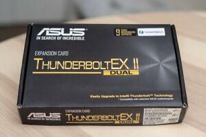 Asus ThunderboltEX 2 Dual PCI Express Card in box inc CD, Manual, 2X Cables