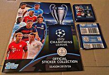 Champion League 2015-16 - Topps-Leer Album und 50 ungeöffnete Packungen