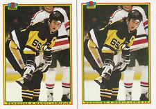 New listing (2) Mario Lemieux - 1990-91 Bowman - # 204 - Penguins