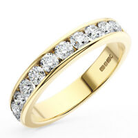 0.50Ct Channel Set Round Brilliant Cut Diamond Eternity Ring in 18K Yellow Gold