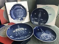 4 Christmas In America Bing & Grondahl Plates 1986 (First Ed!), 1987, 1989, 1991