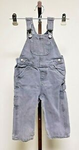 Baby Levis Bib Overalls Denim Jeans GRAY  Unisex Toddler Size 24 Months- nice