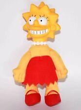 "The Simpsons Lisa Plush Doll Figure  Vinyl Head Soft Body 1990 7.5"""