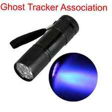 Ghost hunting UV Torcia 9 LED Torcia paranormale lampada ultravioletta attrezzature
