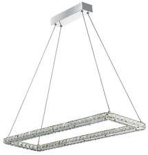Searchlight 7012CC Clover LED Chrome Rectangle Ceiling Light With Crystal Trim