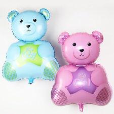 "27"" It's a boy girl teddy bear foil balloon blue pink Free Air Pumper Included"
