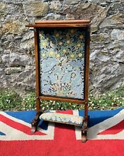More details for stunning william iv solid rosewood adjustable reading firescreen
