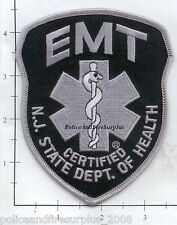 New Jersey - NJ State Dept of Health EMT Fire Dept Patch - Subdued