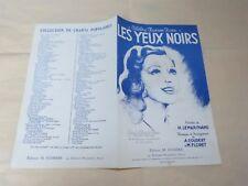 LEMARCHAND & COUDERT & FLORET - Partition LES YEUX NOIRS !!!