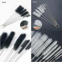 10pcs/set Nylon Straw Brushes Cleaner Bottle Tube Pipe Small Long Cleaning Tool