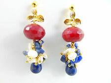 Echtschmuck aus Gelbgold mit Lapislazuli-Perlen