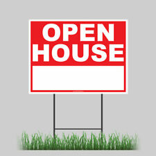 Large Outdoor 24x18 Open House Yard Sign With Ground Stake