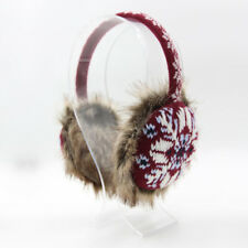 Red Snowflakes Earmuffs for Fall & Winter