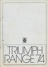 Triumph 1974 UK Market Sales Brochure Stag TR6 GT6 Spitfire 2500 2000 Dolomite