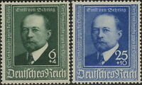 Stamp Germany Mi 760-1 Sc B186-7 1940 WWII Fascism Behring Serum Doctor MH