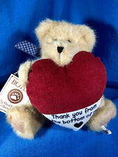 Boyds Manny Thanks Bear- Thank You From The Bottom Of My Heart Nwt