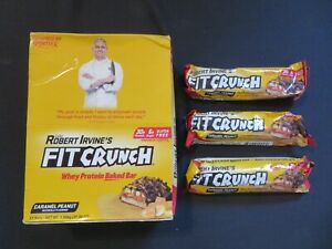 (15) Robert Irvine's Fit Crunch Whey Protein Baked Bar Caramel Peanut 3.1 Oz #5