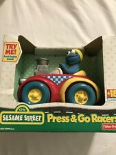 Fisher-Price Sesame Street Press & Go Racers Cookie Monster NEW
